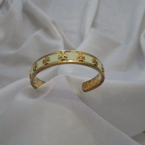 Tory Burch  Raised Enamel Logo Bracelet